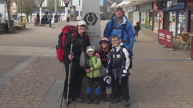 Hiking is a holiday for hardy Isle of Wight family — who blog their achievements