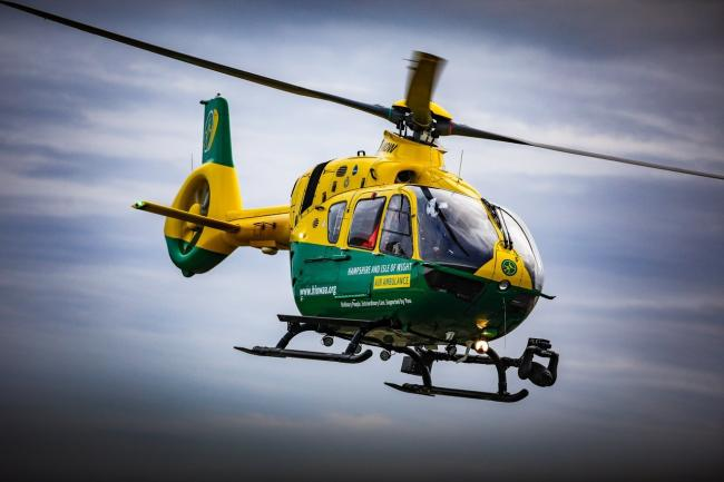 Hampshire and Isle of Wight Air Ambulance. Picture by Simon Heron.
