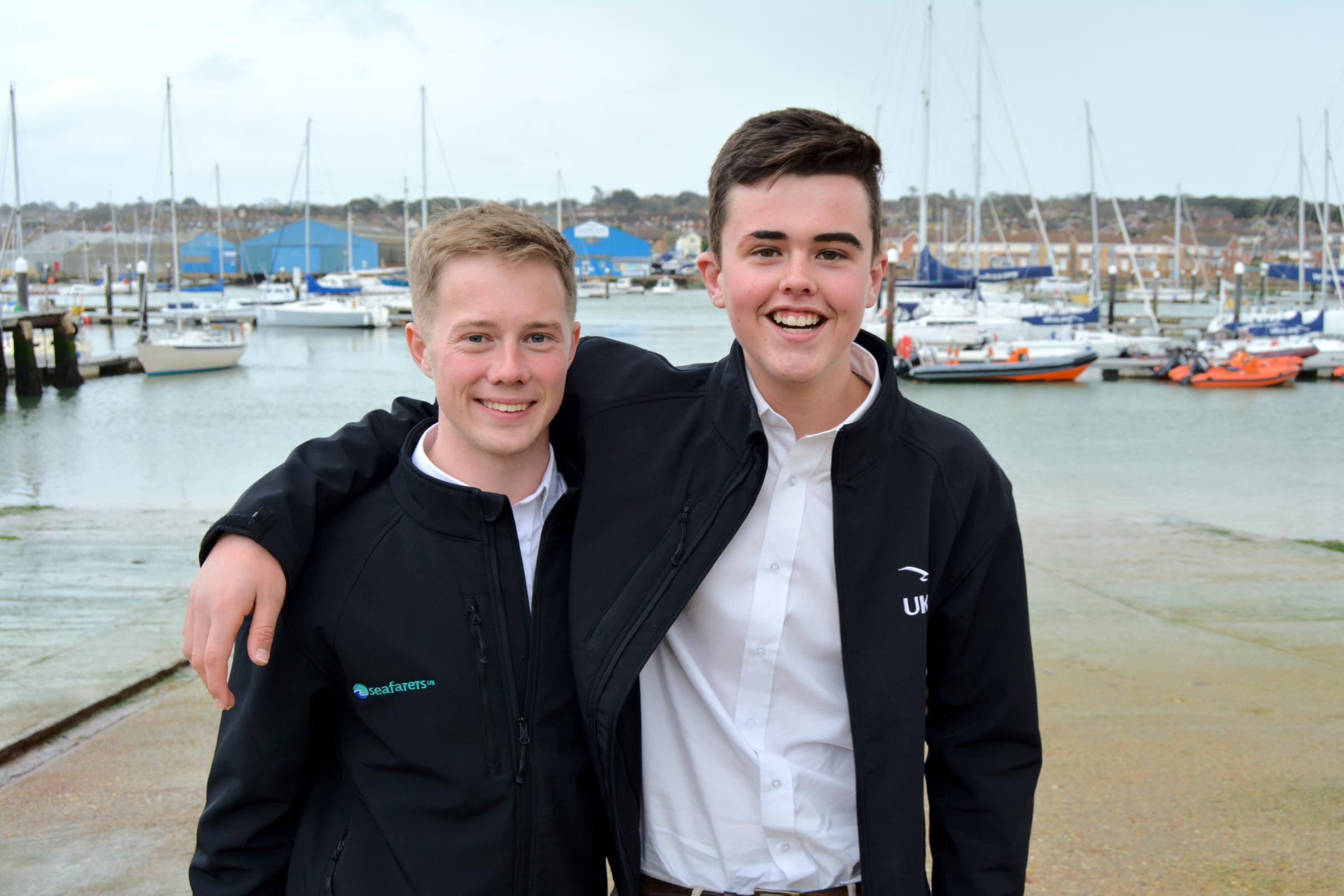 Joe Burnip, 21, and Henry Woolford, 18, who have just graduated from UKSA.
