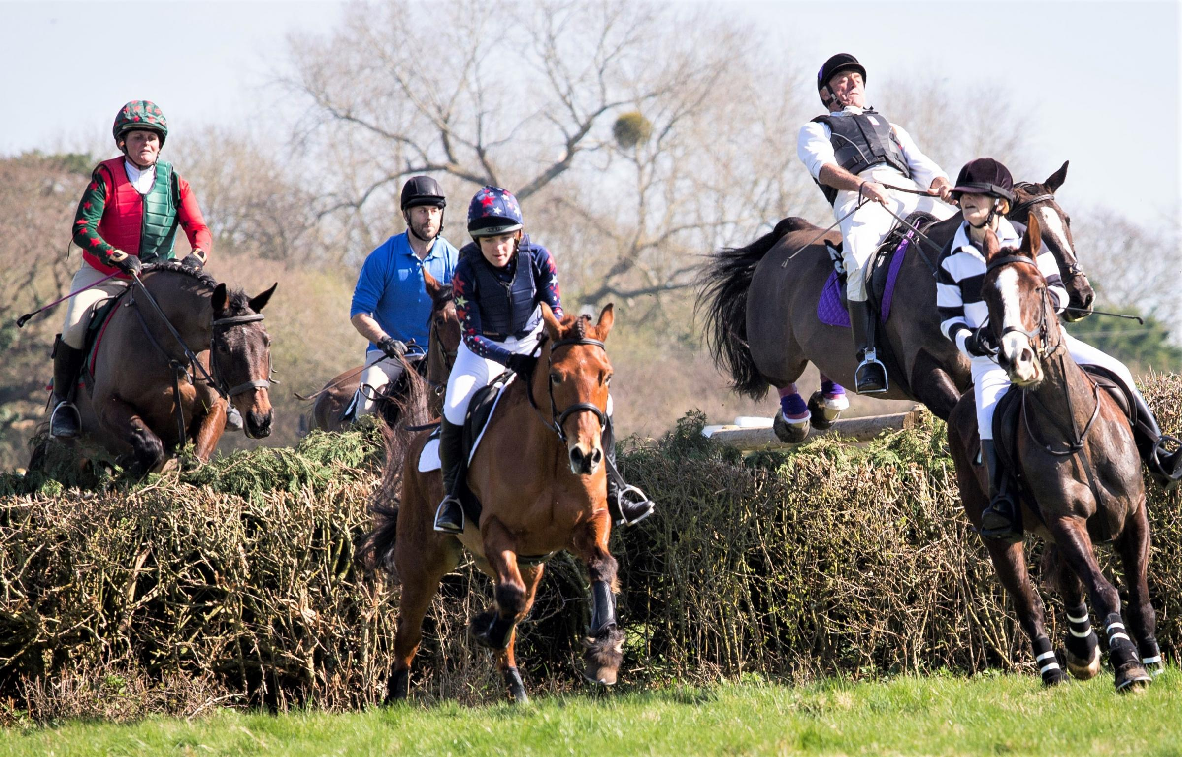 Action from the 2017 IW Grand National at West Ashey Farm.  Photo: Jo Monck
