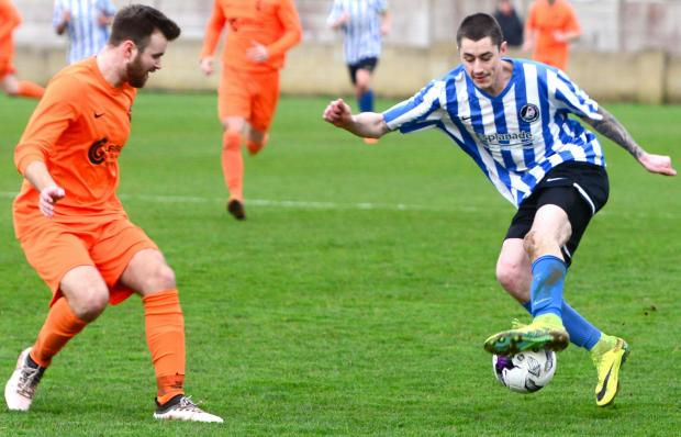 Isle of Wight County Press: John McKie gave the Bemerton Heath defence a torrid time. Photo: Paul Blackley