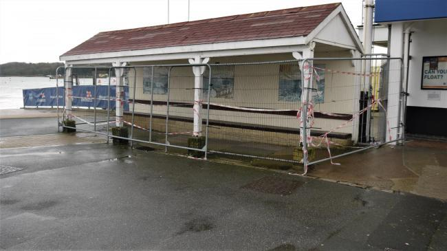 The public shelter in Cowes.