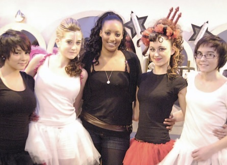 Ten years ago: Trainees from Jaks Hair & Beauty compete in salon show. Centre, winner, Rochelle Mortimer with her angel versus devil models.