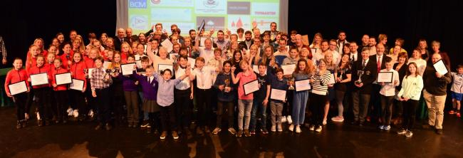 All the winners and nominees at last night's Isle of Wight Sports Achievement Awards, at Medina Theatre, Newport.  Photo: Paul Blackley