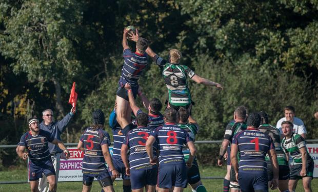Isle of Wight County Press: Hurricanes flanker Harry Hooper, an important player this season, catches in the line-out. FILE