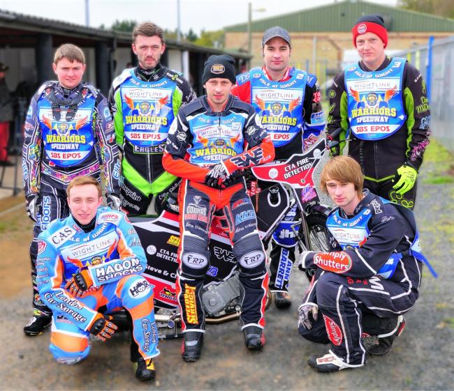 This season's new-look Isle of Wight Wightlink Warriors team, who have a tough test against Mildenhall Fen Tigers in the National Trophy.