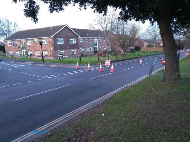A one-way system has been in place at Staplers Road since January.