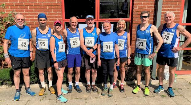 Isle of Wight County Press: Members of the West Wight Running Club who took on the Easter runs.