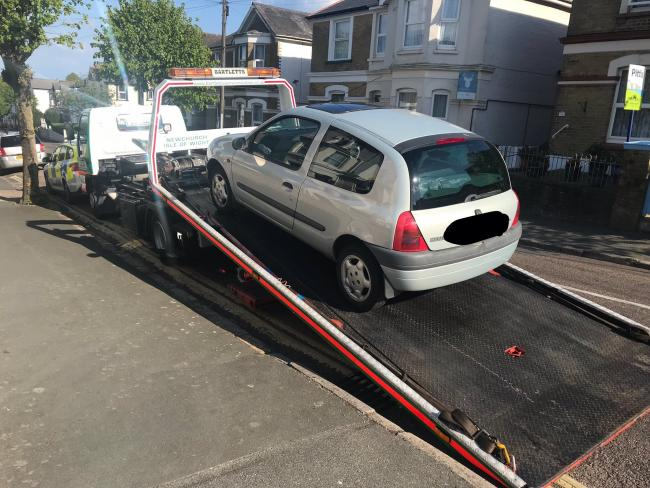 Car seized on the Isle of Wight today.
