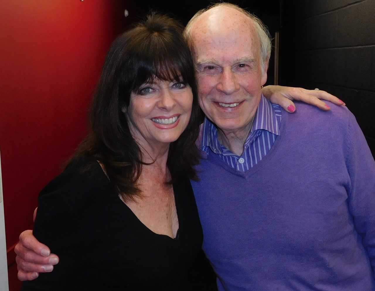 Vicki Michelle, star of Hormonal Housewives, with John Hannam.
