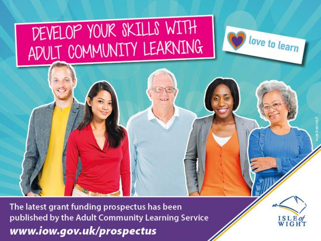The Isle of Wight Council's Adult Community Learning Service new Grant Funding Prospectus for 2019/20