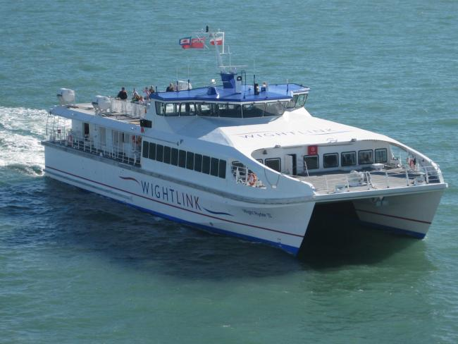 Wightlink's overnight FastCat, Wight Ryder II.