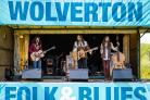 Shorwell - Wolverton Folk and Blues Festival 2019. Main Stage, The Goat Roper Rodeo Band..