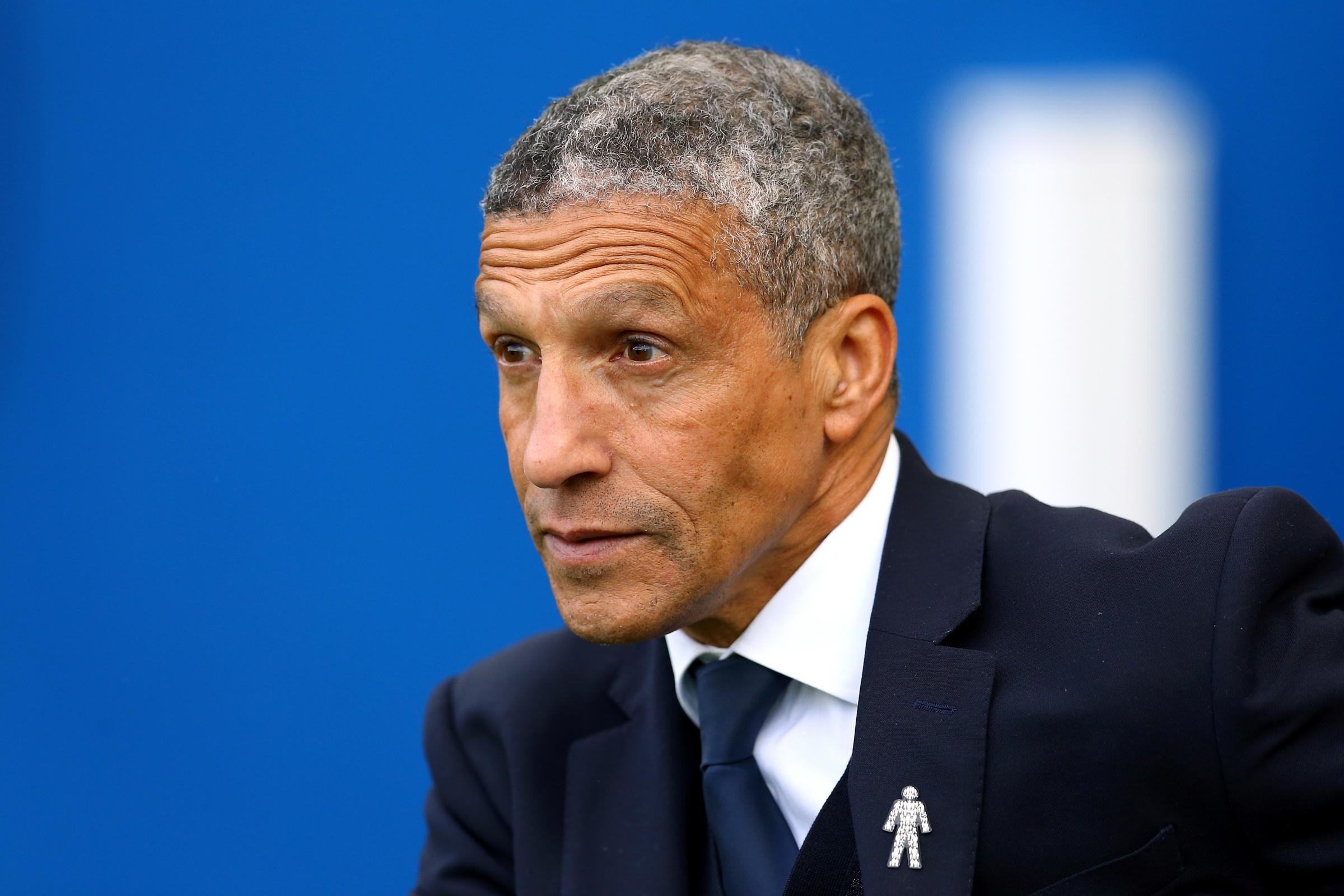 Brighton manager Chris Hughton (PA)