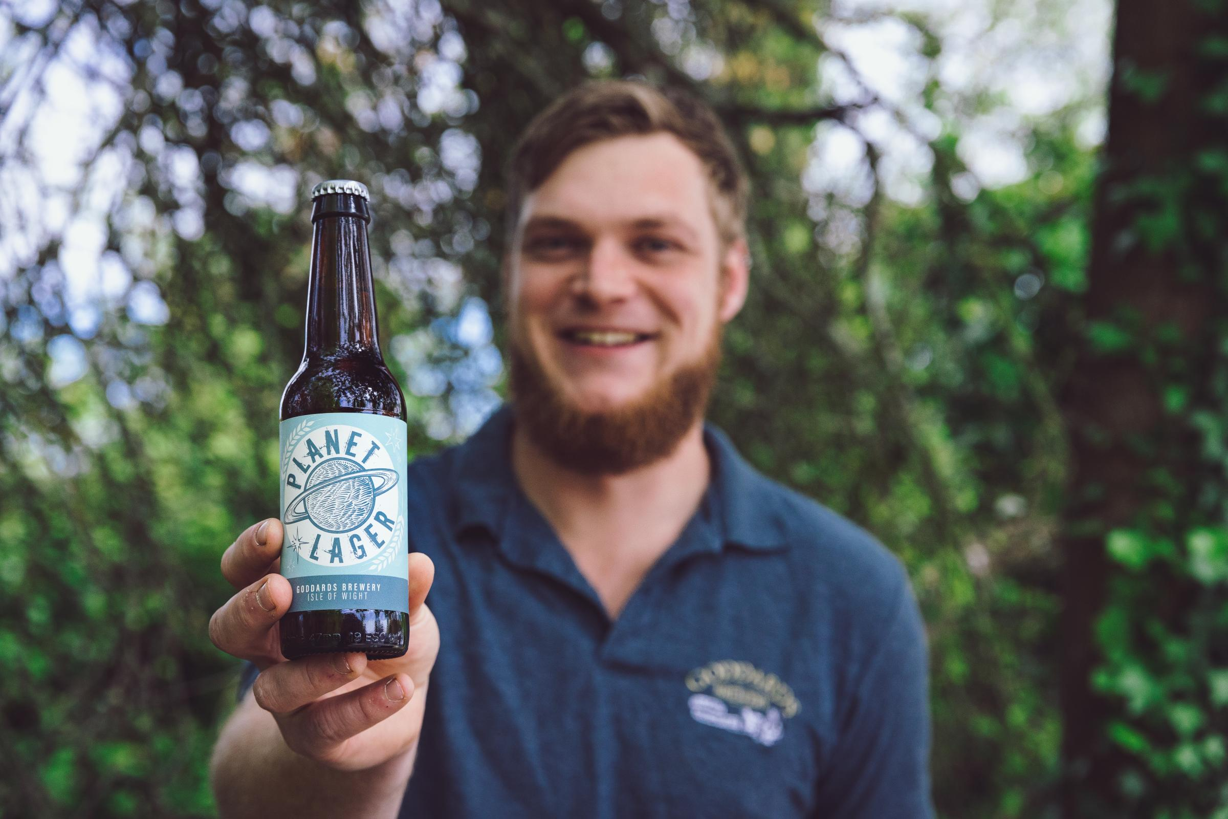 Pint of Planet, anyone? Isle of Wight's Goddards Brewery release new gluten free, vegan friendly lager