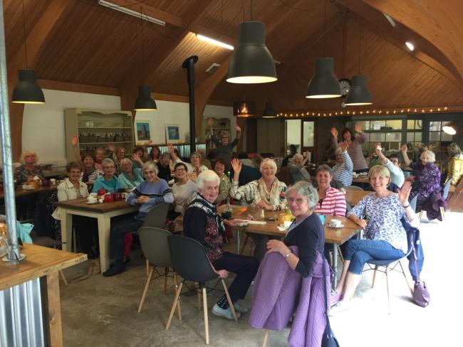 Members of Tennyson Townswomen's Guild enjoy lunch at Chessell Pottery. Picture by Cheryl May.