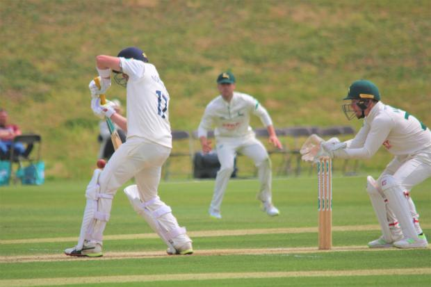Isle of Wight County Press: Action from last summer's successful County Championship match between Hampshire and Nottinghamshire at Newclose.
