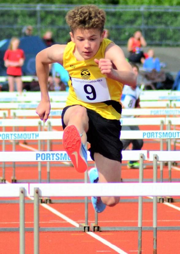 Isle of Wight County Press: Jacob Patey in the U15 boys' pentathlon.