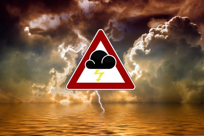 The Met Office has issued a yellow warning for thunderstorms on the Isle of Wight.