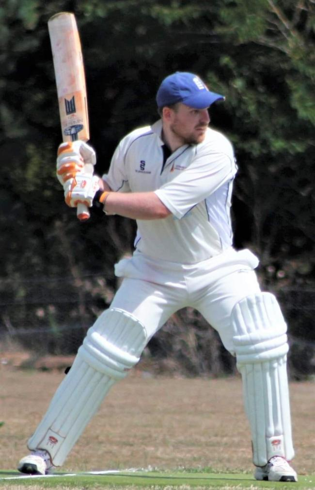 Cowes player Jack Summers hit an unbeaten 134 away at Shanklin and Godshill.  Photo: Cowes Cricket Club